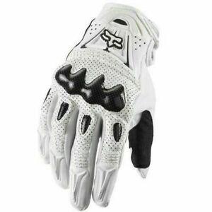 Fox Racing Bomber Racing Gloves Motorcycle Race ATV Bike Gloves WHITE US SELLER