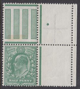 SG 279a 1/2d Deep Dull Green M4 (2) inter pane marginal  in Post Office fresh UM