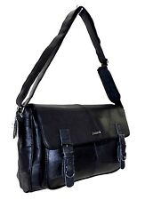 Lorenz Cowhide Real Leather Satchel Messenger Shoulder Laptop Bag Case Handbag