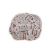 Elefante Tessuto Intagliato a Mano Timbri Blocco Stampa IN Legno Indiano Arte
