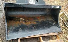 """56""""  EXCAVATOR GRADING DITCH cleaning BUCKET Power tilt/ twist CAT John Deere"""