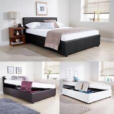 4ft6 Double Side Lift Ottoman Bed 135cm Bedframe Black