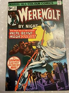 WEREWOLF BY NIGHT #33 FEATURING MOONKNIGHT Could be 9.8 with press.