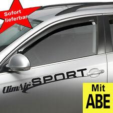 ClimAir Windabweiser schwarz vorne BMW 7er 4Türer Typ E65/E66 2001-2008