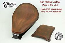 Rich Phillips Leather Honda Rebel Spring Solo Seat Mounting Hardware Kit 85-2015