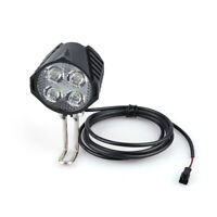 Electric Bicycle LED Headlight 12W 36V 48V 72V Front Light With Horn For Ebike