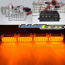 4 x 22 Yellow LED Car Safety Amber Strobe Flashing Warning Light Universal Fit
