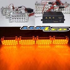 4 x 22 Amber Yellow LED Vehicle Emergency Warning Car Flash Strobe Light