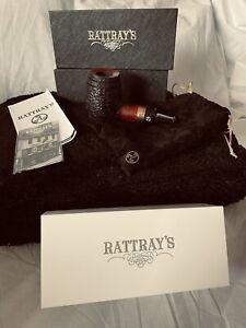 Rattray's 'Devil's Cut' Fass Pfeife pipe pipa - 9mm Filter rustiziert schwarz