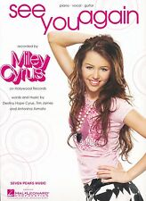 See You Again - Miley Cyrus - 2007 Sheet Music