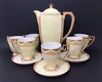 Vintage Art Deco Espresso - Demitasse Set Hand Painted Japan & Czechoslovakia