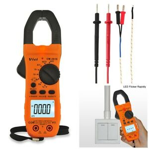 AC/DC Current Voltage LCD Display Handheld Digital Clamp Meter Volt Amp Tester