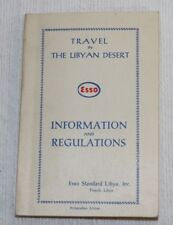 ESSO TRAVEL IN THE LIBYAN DESERT, Information and Regulations Guide