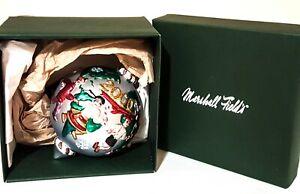 "Vintage Marshall Field's 2000 Glass 4"" Ornament Kids Around the World w/ Box"