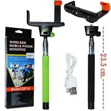 Telescopic Monopod Selfie Stick Built-in Wireless Bluetooth Remote Phone Holder