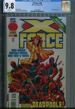 X-Force 56 CGC 9.8 Deadpool Cable Uncanny X-men HTF White Cover