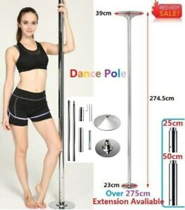 Dancing Pro Dance Pole 45mm Fitness Portable Static Stripper Spinning Exercise
