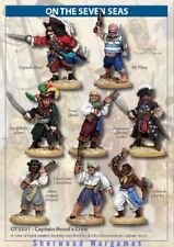 28mm Captain Hood's Pirate Crew, On The Seven Seas Skirmish Game