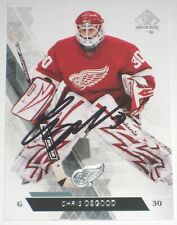 CHRIS OSGOOD SIGNED 13-14 UPPER DECK SPA DETROIT RED WINGS CARD AUTOGRAPH AUTO!