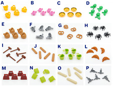 5 Lego Minifigures Accessories plates Food Spiders Apples Guns Tea pot You pick