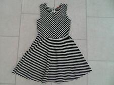 Girls Primark Black   White Striped summer Dress Age 8 9 Years VGC dc212256b