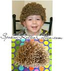Cabbage Patch Kid Doll Boys Crochet Hat Wig Lt Brown Infant Toddler Adult CPK