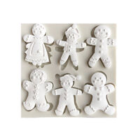 Christmas Snowman Silicone Fondant Mold Cake Decorating Tool Chocolate Moul JF