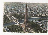 En Avion Sur Paris La Tour Eiffel 1963 Postcard France 580a