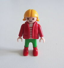 PLAYMOBIL (3172) ENFANT MODERNE - Petite Fille Doudoune Pantalon Vert Bottes