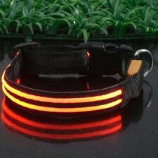 Pets Dog LED Lights Flash Night Safety Waterproof Nylon Dog Collar Adjustable
