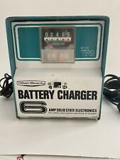Rare Vintage Teal Silver Beauty 8016 Battery Charger 6 12 volt 6 amp Trickle