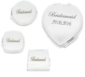 Personalised Folding Mirror Travel Portable Compact Pocket Handbag Cosmetic UK