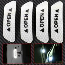4Pcs Universal Car Door open Sticker Tape Safety Reflective Warning Decal