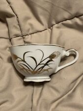 Vintage Lefton China Hand Painted Golden Wheat Teacup #2768N