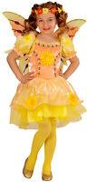 Sommer Feen Kinderkostüm gelb NEU - Mädchen Karneval Fasching Verkleidung Kostüm