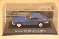 1:43 Altaya Brasinca 4200 GT Uirapuru 1964 Diecast Toys Car Collection Models