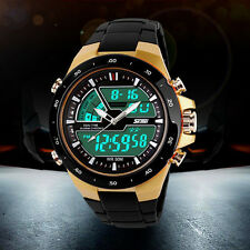 Men Waterproof Dual Date Display Multi Function LED Sports Watch Military Alarm