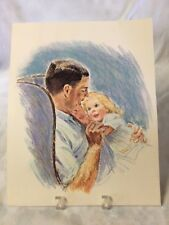Frances Hook 1963 My Daddy Loves Me, Father and Child print