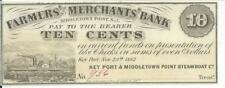 1862 New Jersey Farmers & Merchants Bank 10 cent Middletown  #956