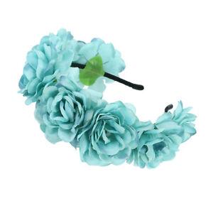 Women's Wreath Flower Headband Hair Wreath Band Garland Bridal Wedding Party