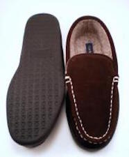 Club Room Mens Cone Chocolate Brown Slippers New 7-12