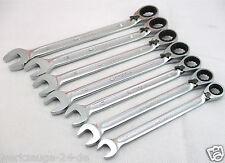 KS Tools Tripleplus carraca de anillo, conmutable Kit 7 pcs. 9-18mm