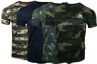 Mens New Mi6 Ultra Cool Super Acitve Gym Army Camo Print Breathable T Shirt Top