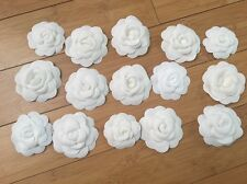 Authenic Chanel White Camellia Flowers Set Of 15! Very Rare! Only 1 On eBay!