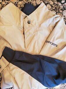Footjoy Dryjoy Golf Rain Jacket Men's XL Extra Large FJ New Sample Beige