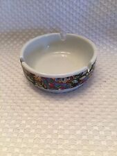 "3 1/4"" Round FLOWER ASHTRAY PORCELANA Veracruz BRASIL Pedreira SP Nice"