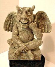 """Little Devilment Winged Gargoyle 7"""" Figurine Horns United Design Sitting Resin"""