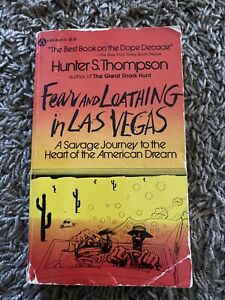 1971 Fear And Loathing In Las Vegas Paperback Book Hunter S. Thompson Rare