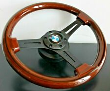 Steering Wheel BMW Wood Black Spokes E36 E38 E39 E46 Z3 Wooden Sport 1995-2003