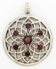 Blume des Lebens Kildare Granat Silber Gothic Schmuck - NEU